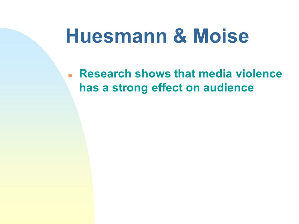 media promotes violence essays Does violence in the media affect people  to information from the mass media which promotes  a custom essay sample on violence in the media.