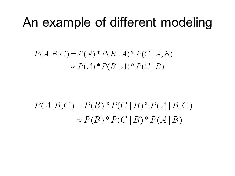 An example of different modeling