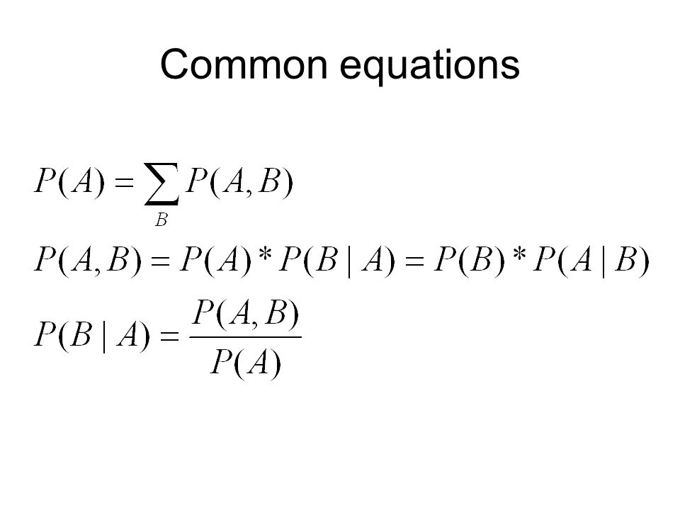 Common equations