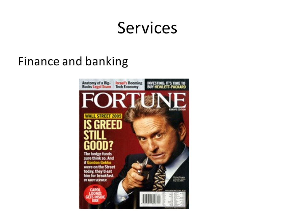 Services Finance and banking