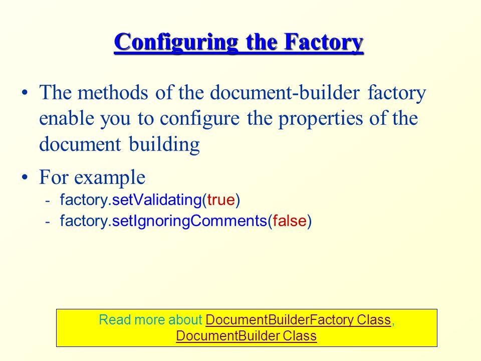 Documentbuilderfactory setvalidating true