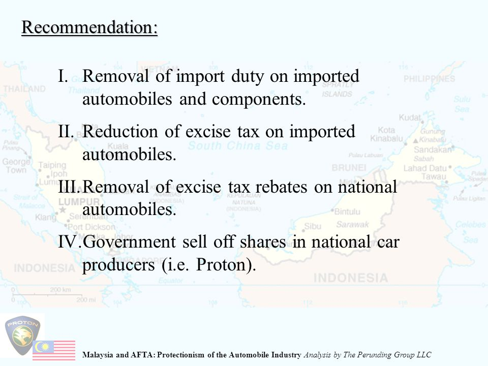 Malaysia and AFTA: Protectionism of the Automobile Industry