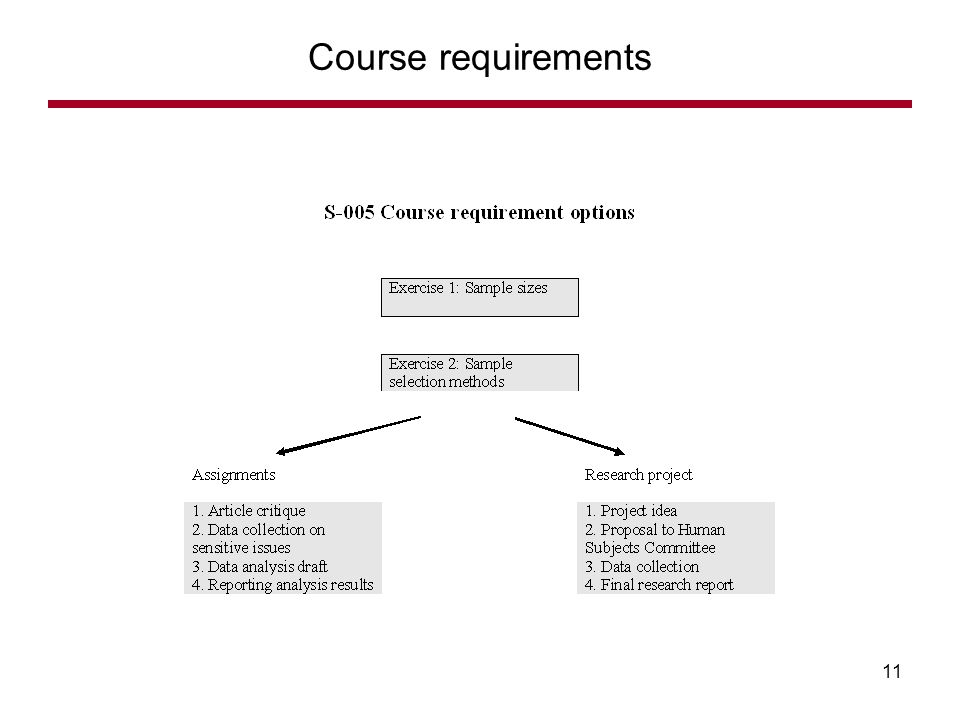 Course requirements 11