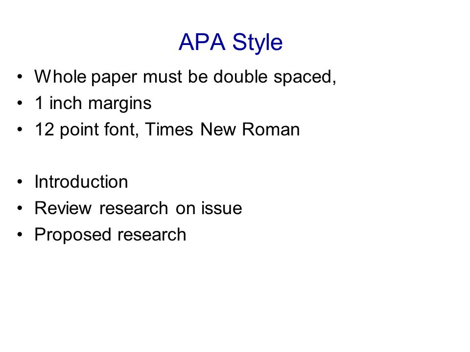 apa format margins and font