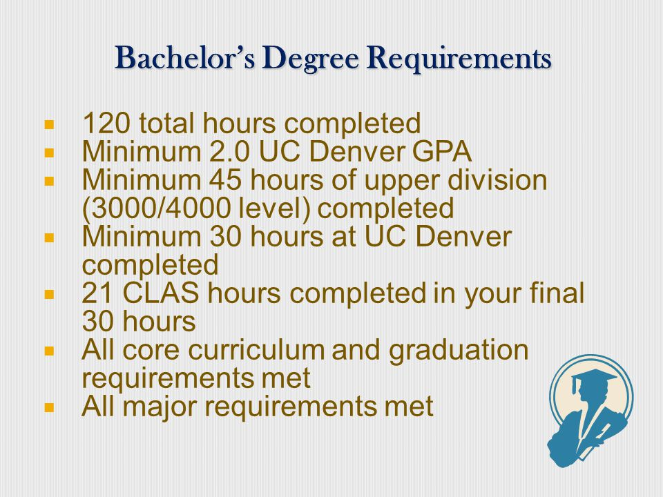 If you plan to graduate in 4 years, how many credits will you need to complete each year.