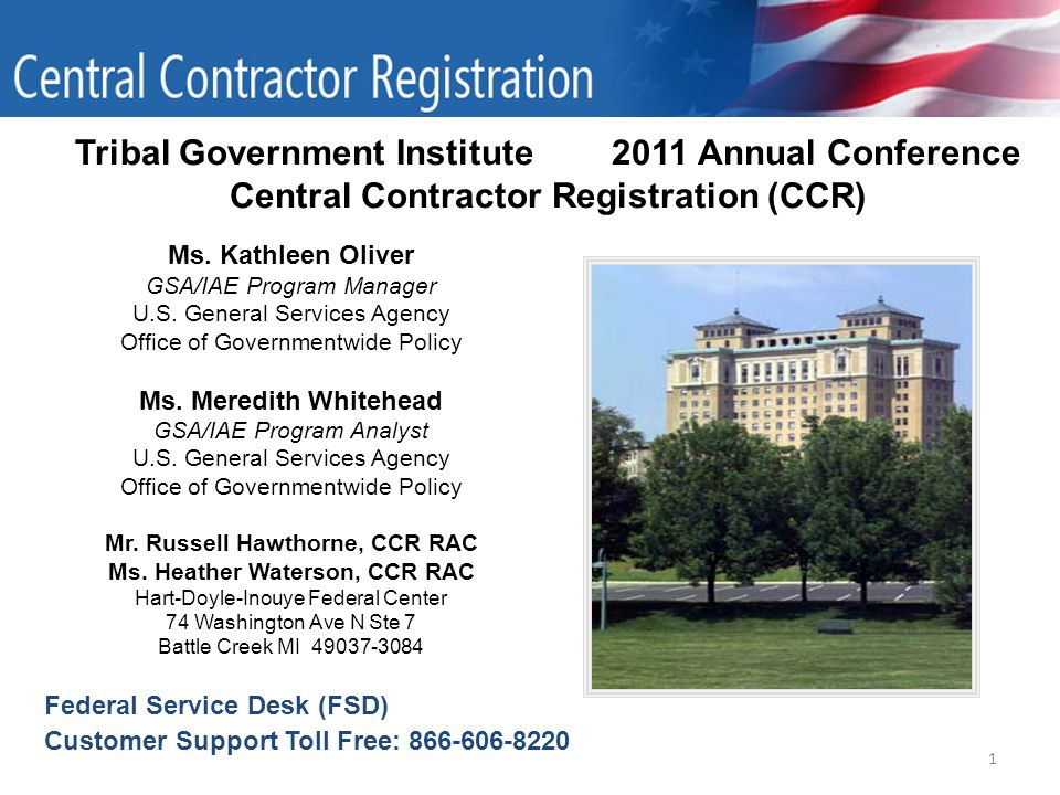 1 Tribal Government Institute 2011 Annual Conference Central