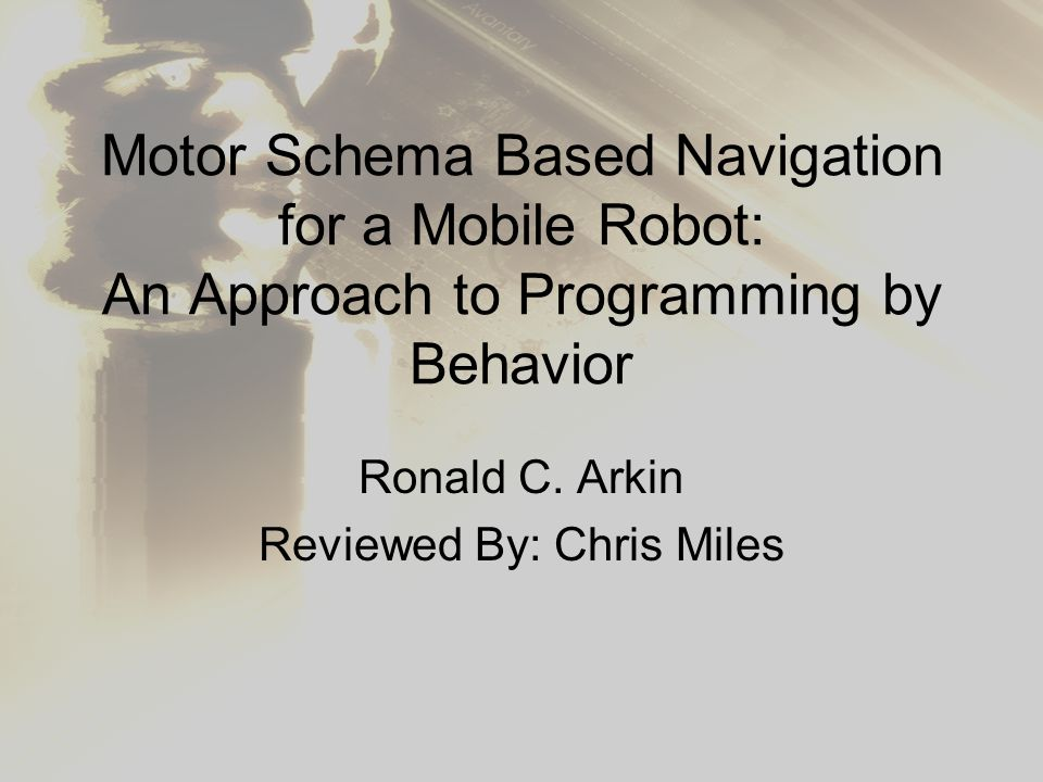 Motor Schema Based Navigation for a Mobile Robot: An Approach to ...