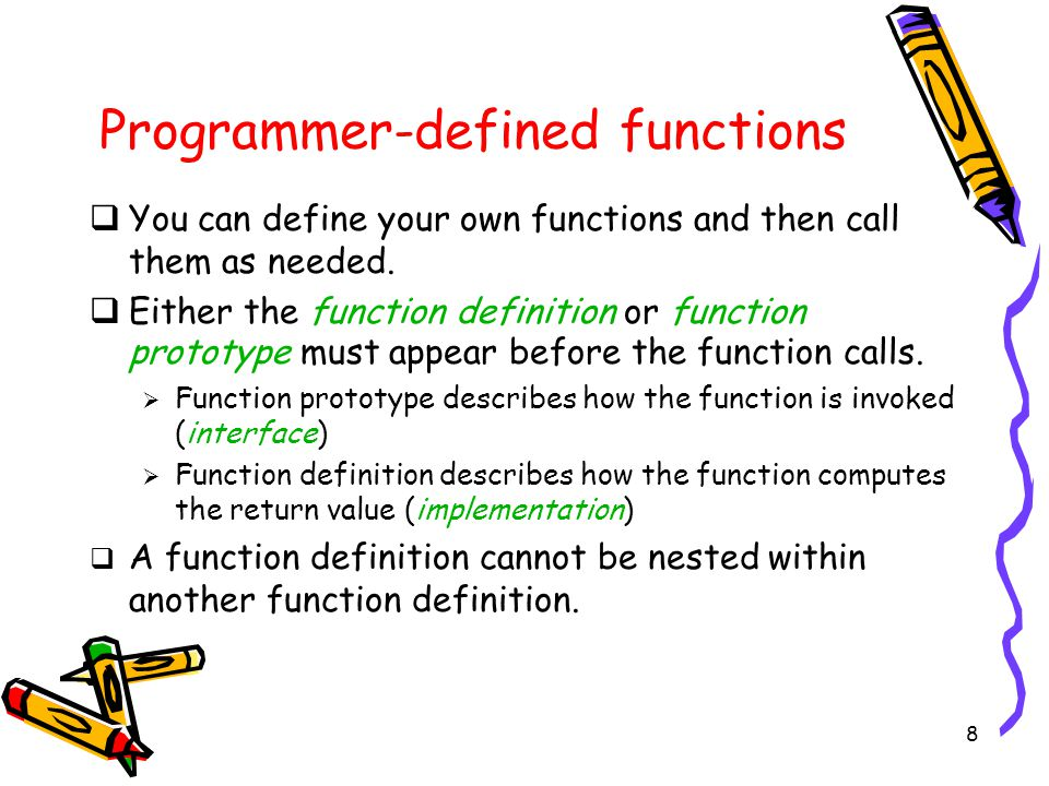 1 Lecture 6  Functions  C Standard Libraries
