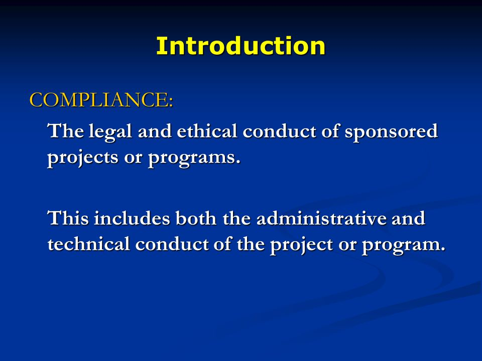 Post award financial compliance presented by jerry fife assistant 2 introduction malvernweather Choice Image