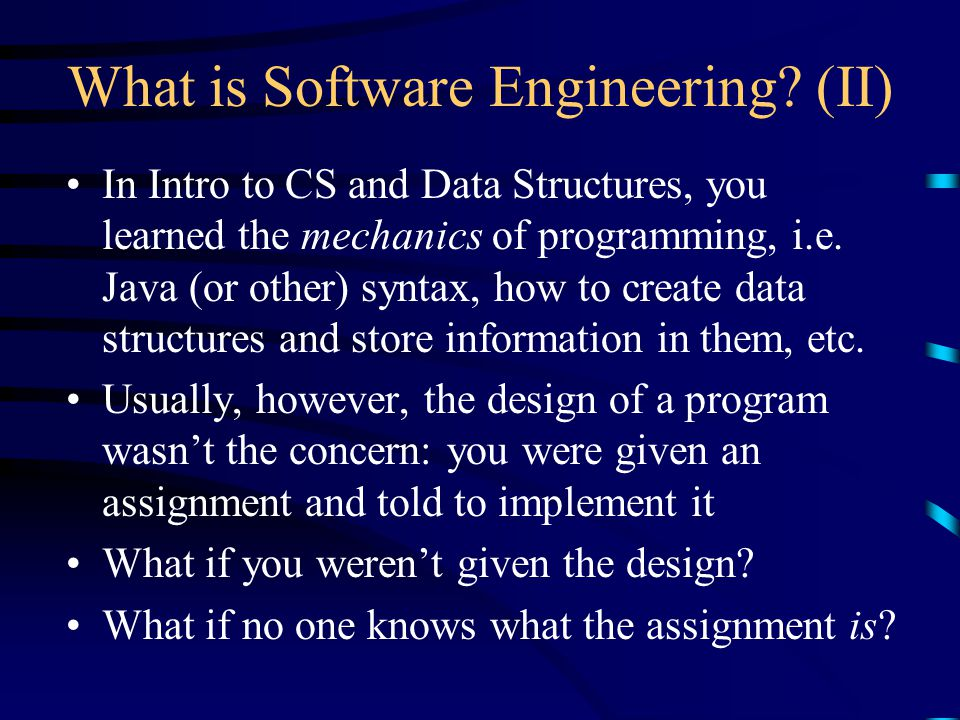 Coms W3156 Software Engineering Fall 2001 Lecture 1 The Smorgasboard Janak J Parekh Ppt Download