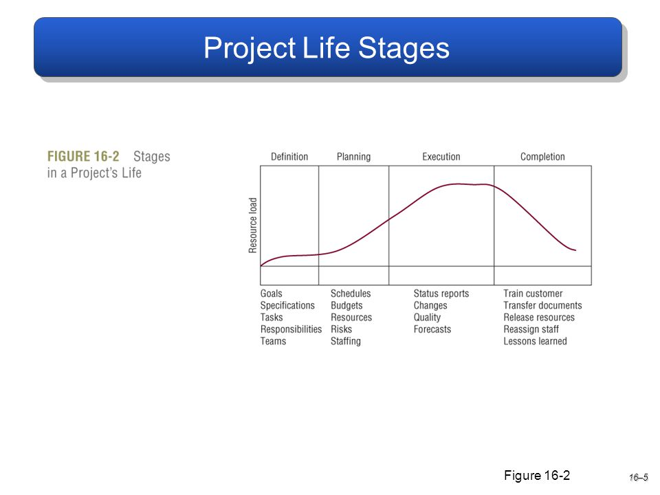 Project Life Stages 16–5 Figure 16-2