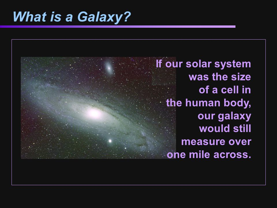 What is a Galaxy.