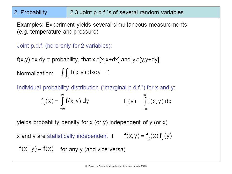 K  Desch – Statistical methods of data analysis SS10 2  Probability