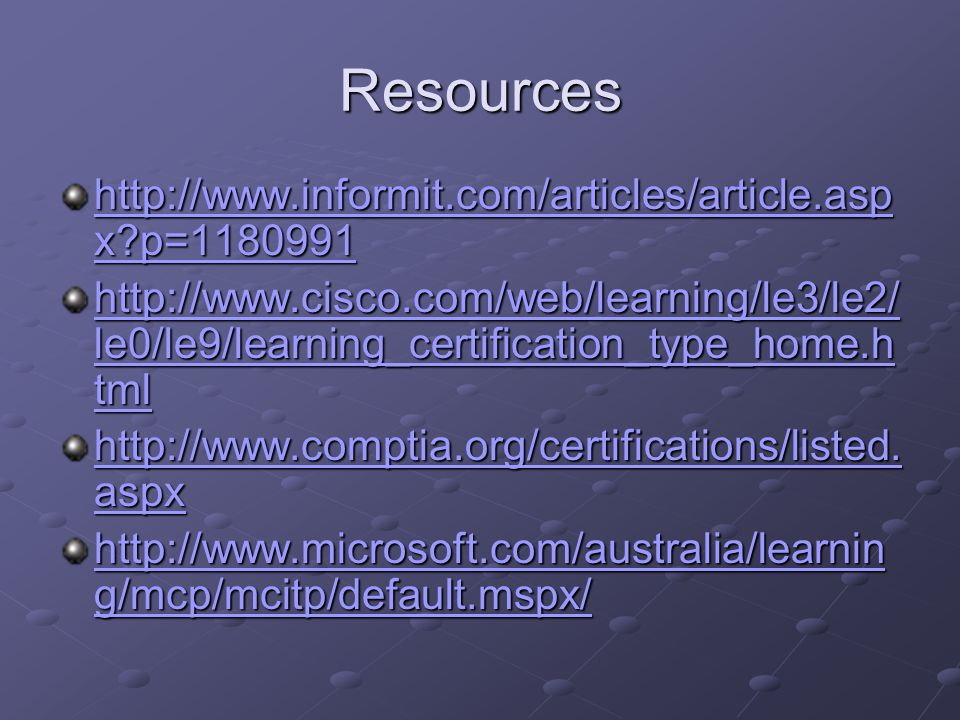 It Certifications By David Amon Overview Reasons For