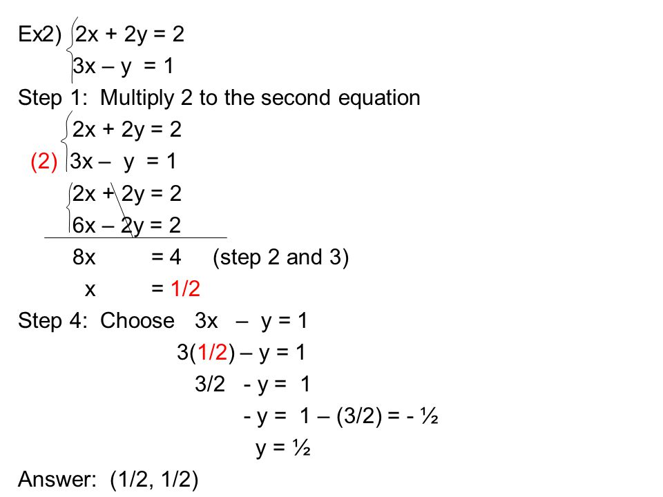 32 Solving By Substitution And Elimination 33 Application Ppt