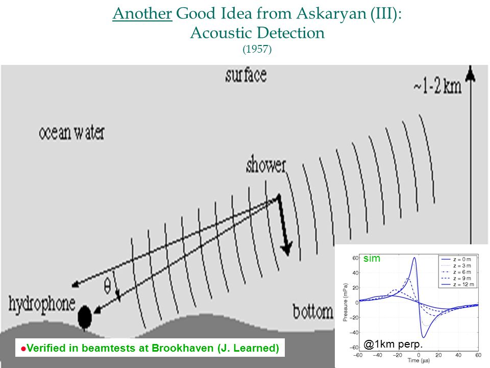 Another Good Idea from Askaryan (III): Acoustic Detection perp.