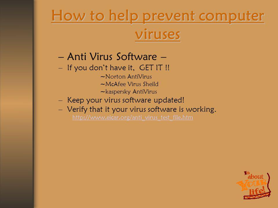 ANTI VIRUS Prepared By:- Rusul M Kanona & Anwar M K Baddar