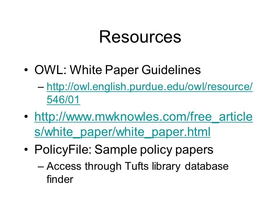white paper workshop academic resource center make an appointment