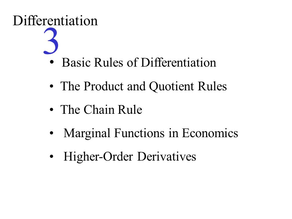 the significance of the chain rule in the differential calculus Author: morris kline title: calculus: an intuitive and physical approach amazon link.