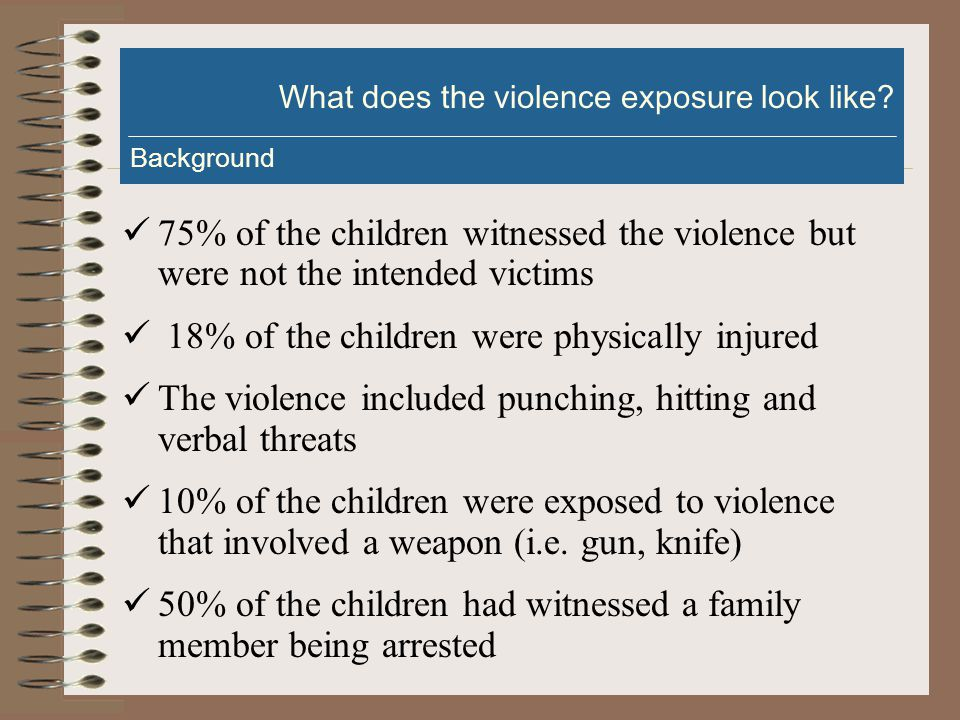 Who are the children exposed to violence (CEV).