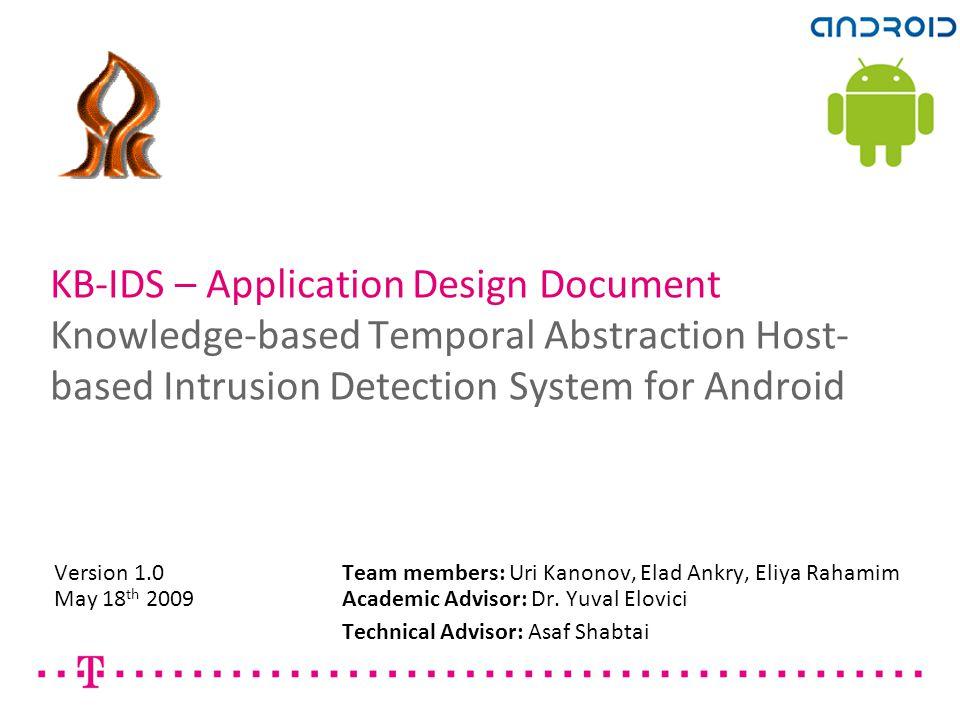 KB-IDS Application Design Document1 KB-IDS – Application Design