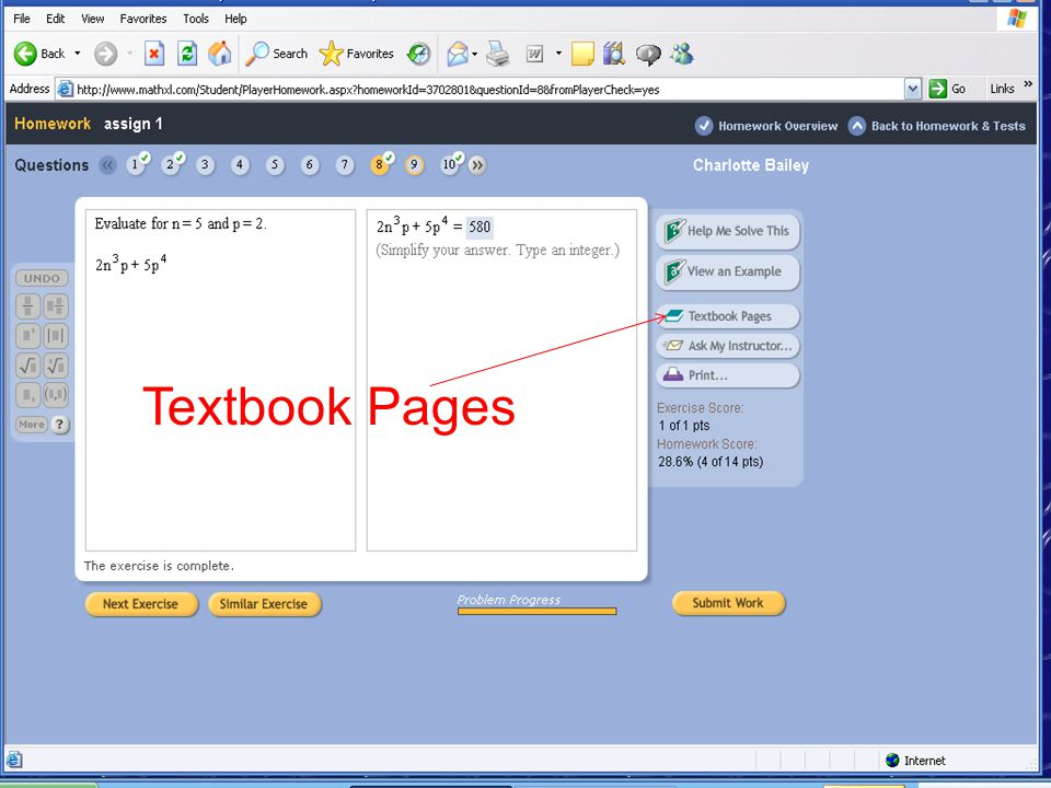 Textbook Pages