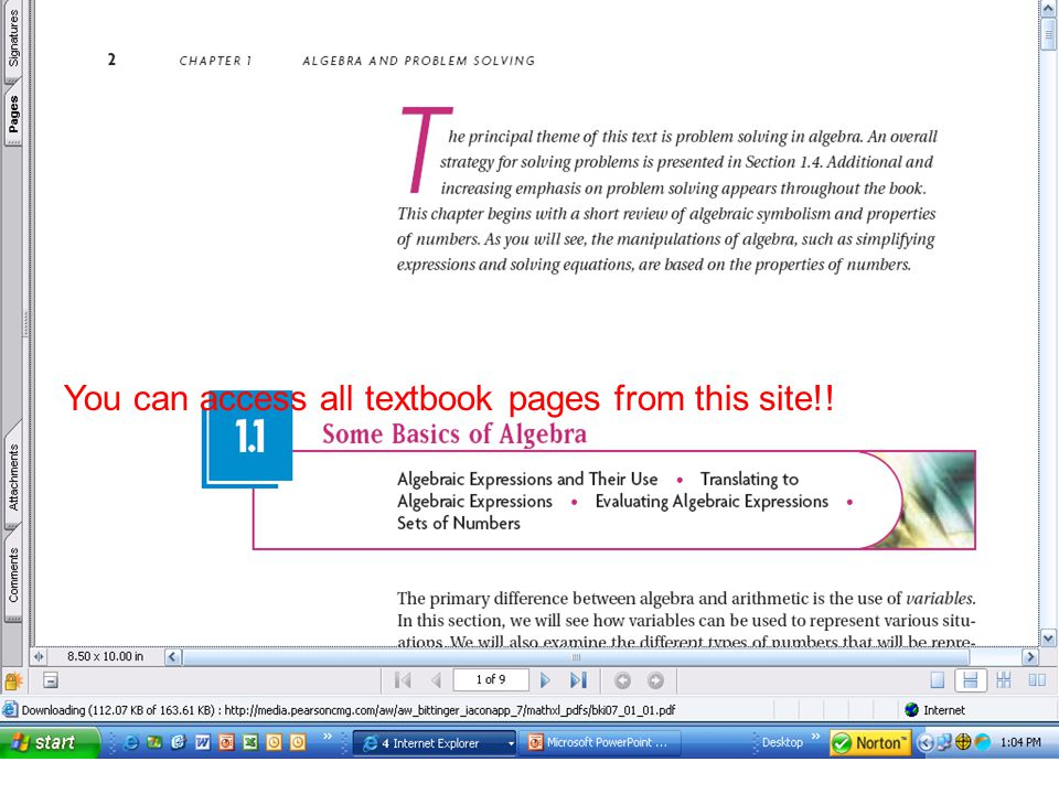 You can access all textbook pages from this site!!
