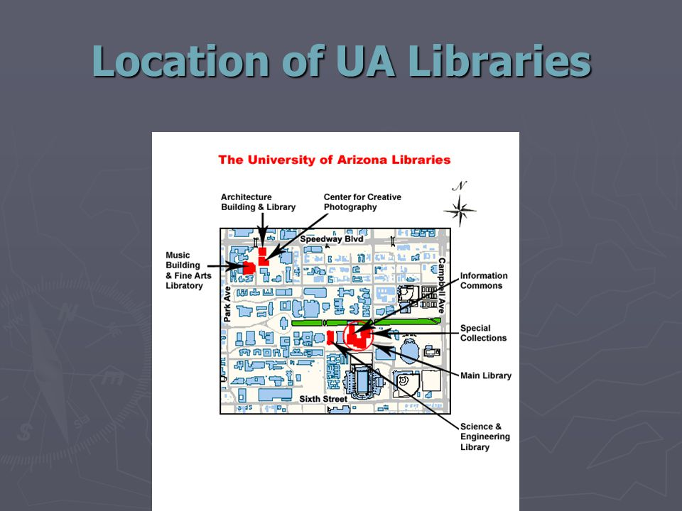 Location of UA Libraries