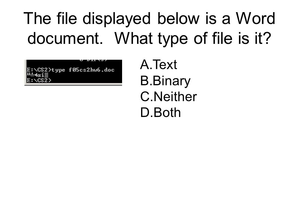 The file displayed below is a Word document. What type of file is it.