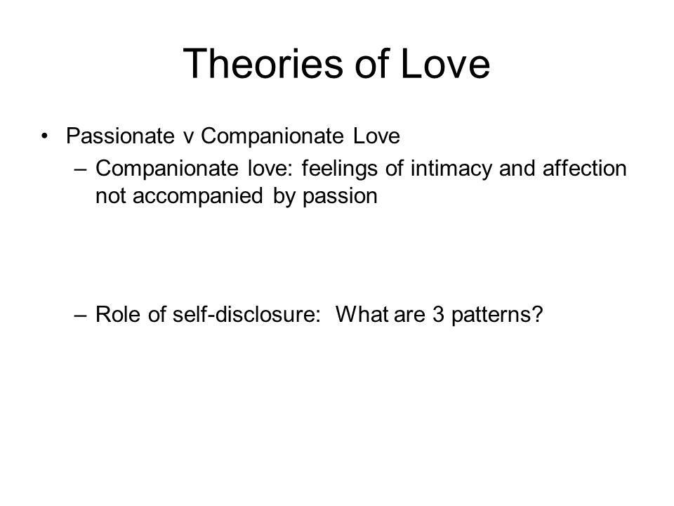 Passionate and companionate love