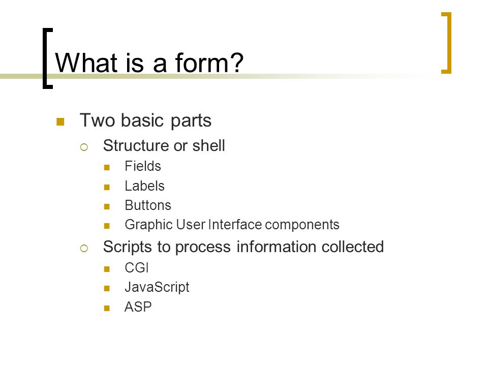 What is a form.