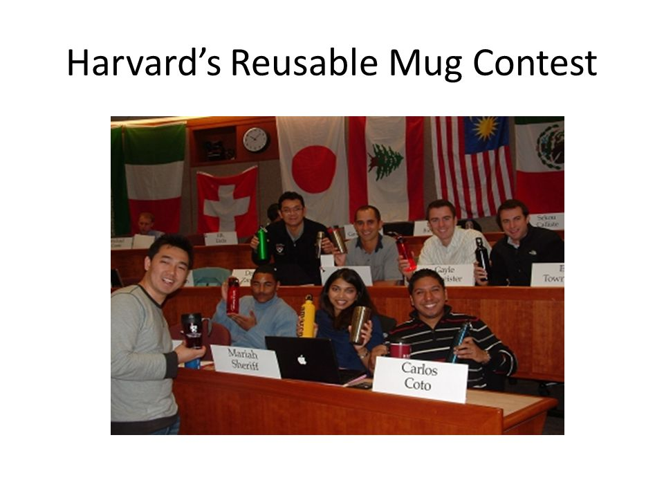 Harvard's Reusable Mug Contest