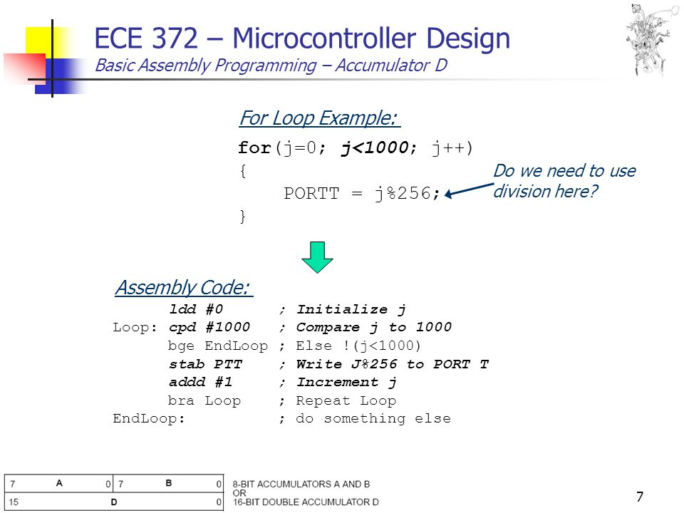 1 ECE 372 – Microcontroller Design Basic Assembly