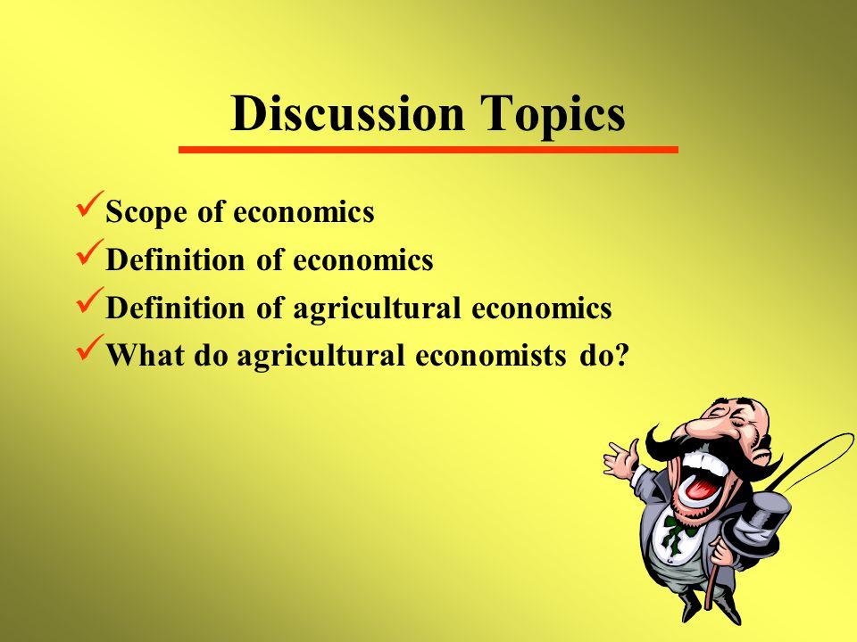 agricultural economics topics