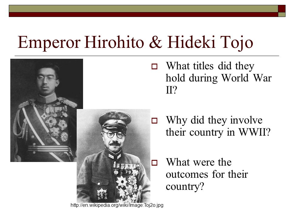 what role did hideki tojo play in world war ii