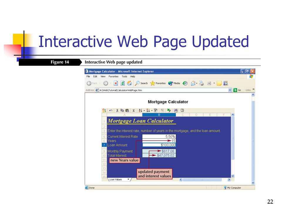22 Interactive Web Page Updated