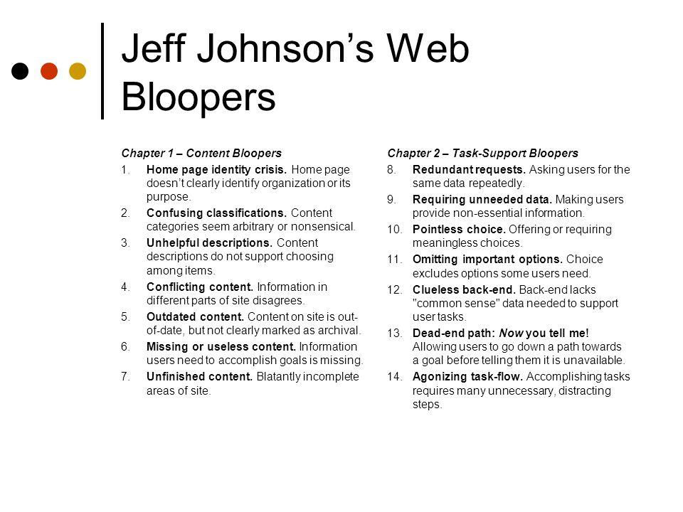 web bloopers johnson jeff