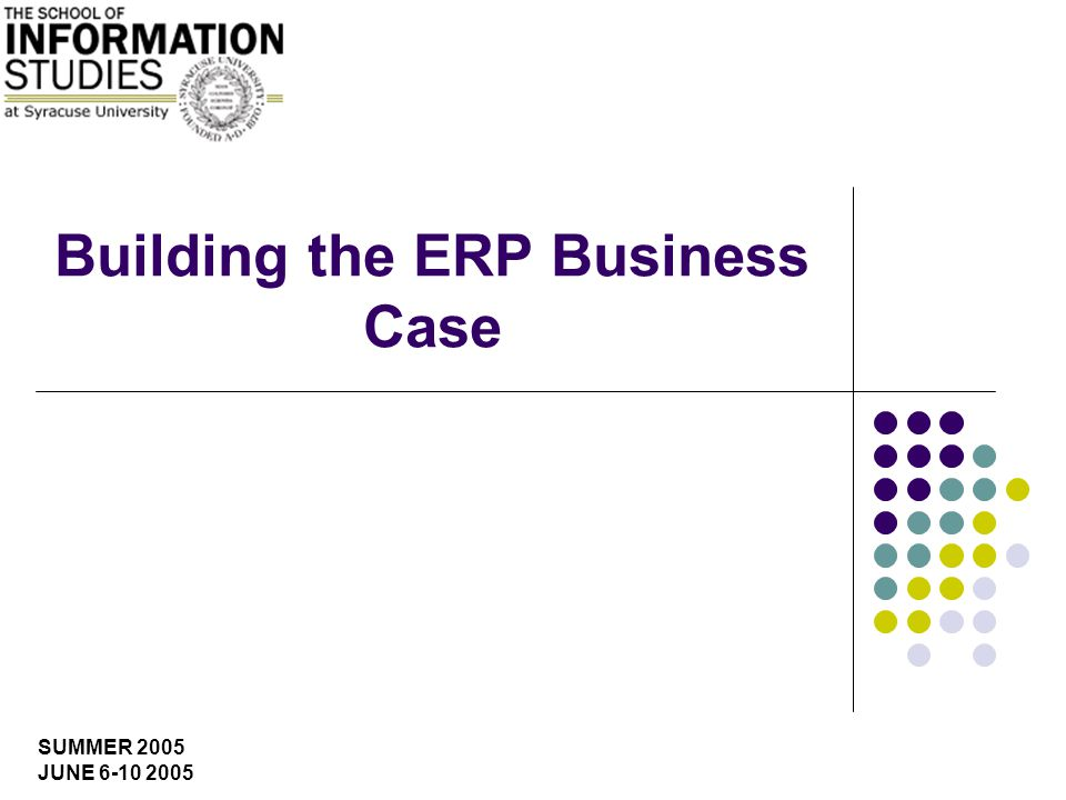 SUMMER 2005 JUNE Building the ERP Business Case