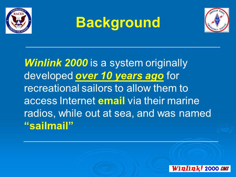 Winlink 2000 Enhanced Digital Messaging for Amateur Radio ...