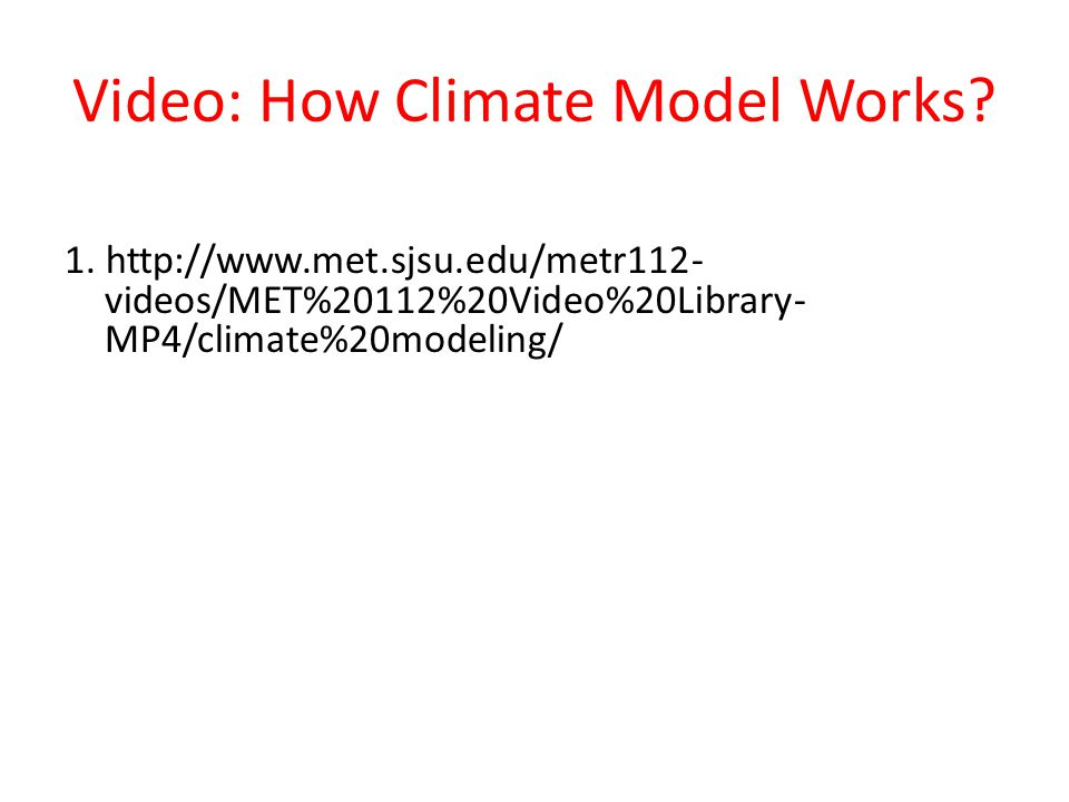 Video: How Climate Model Works. 1.