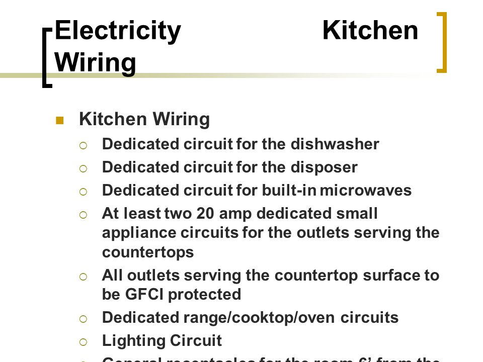 Sensational Electricity For Kitchens Baths Electricity Amber Ppt Download Wiring Digital Resources Bioskbiperorg
