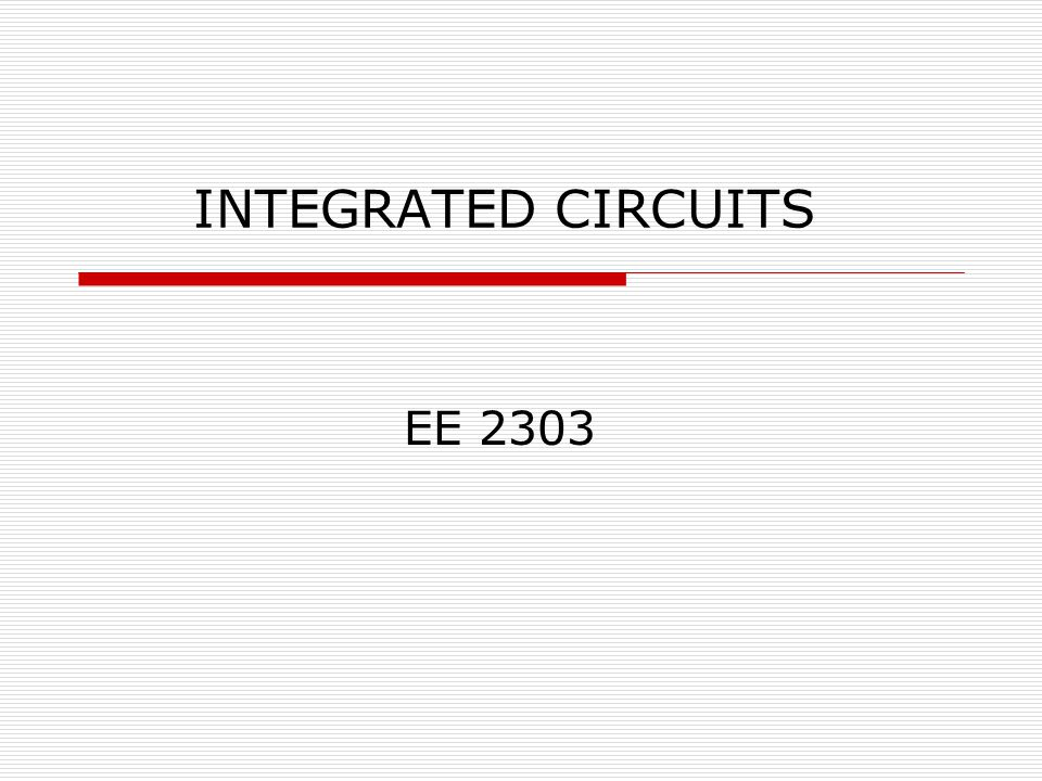 INTEGRATED CIRCUITS EE 2303