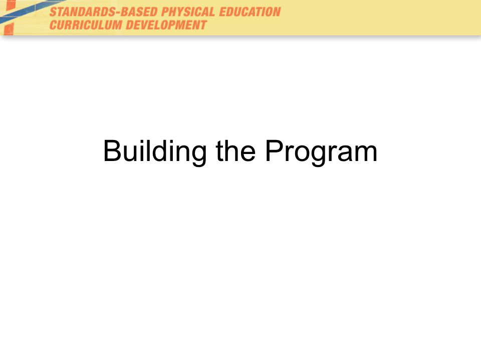 Building the Program