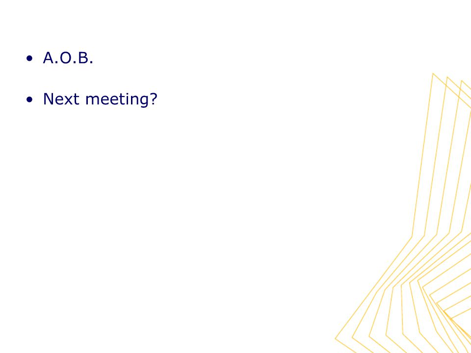 A.O.B. Next meeting