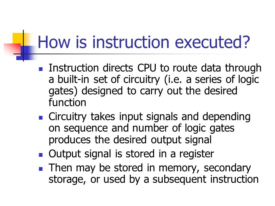 How is instruction executed.