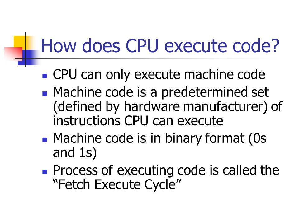 How does CPU execute code.