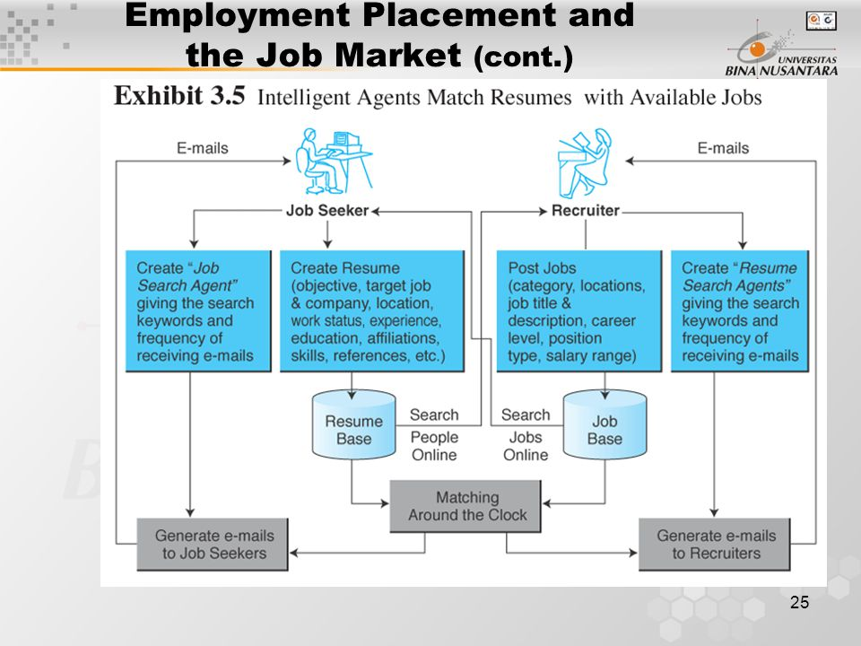 25 Employment Placement and the Job Market (cont.)