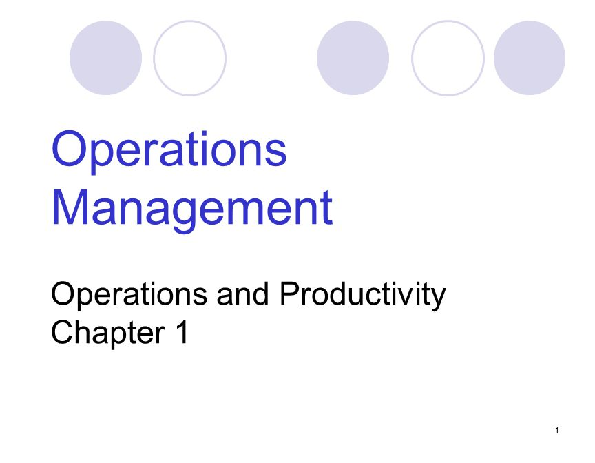 productivity challenge in operations management