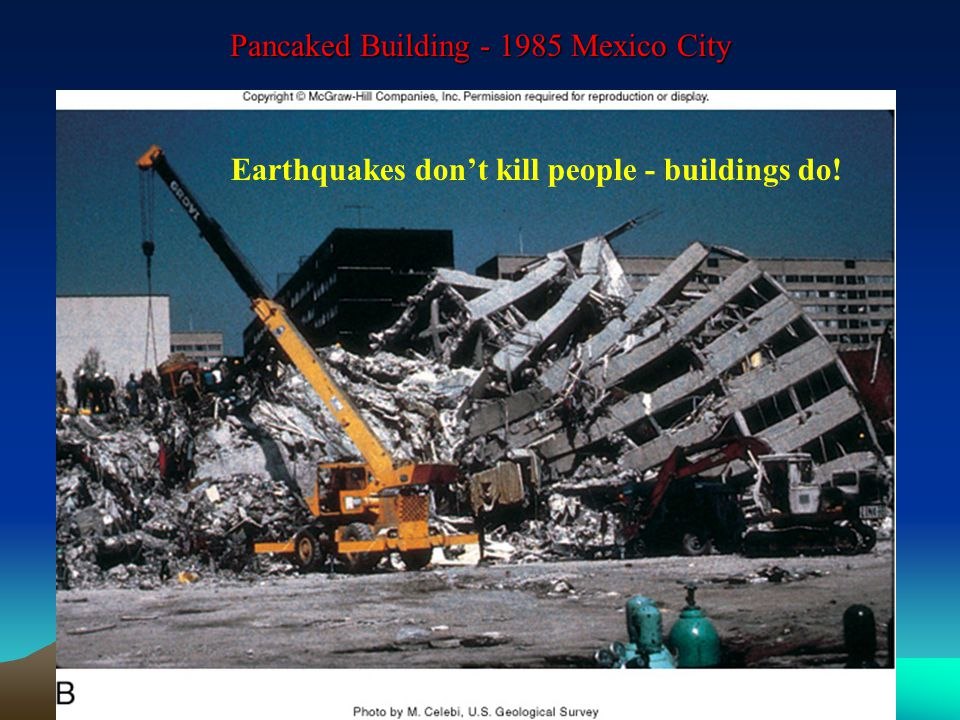 Pancaked Building Mexico City Earthquakes don't kill people - buildings do!