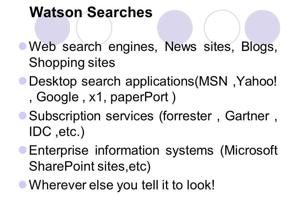 By Intellext Presented By: Neha Bhatt  What is Watson? Watson is an
